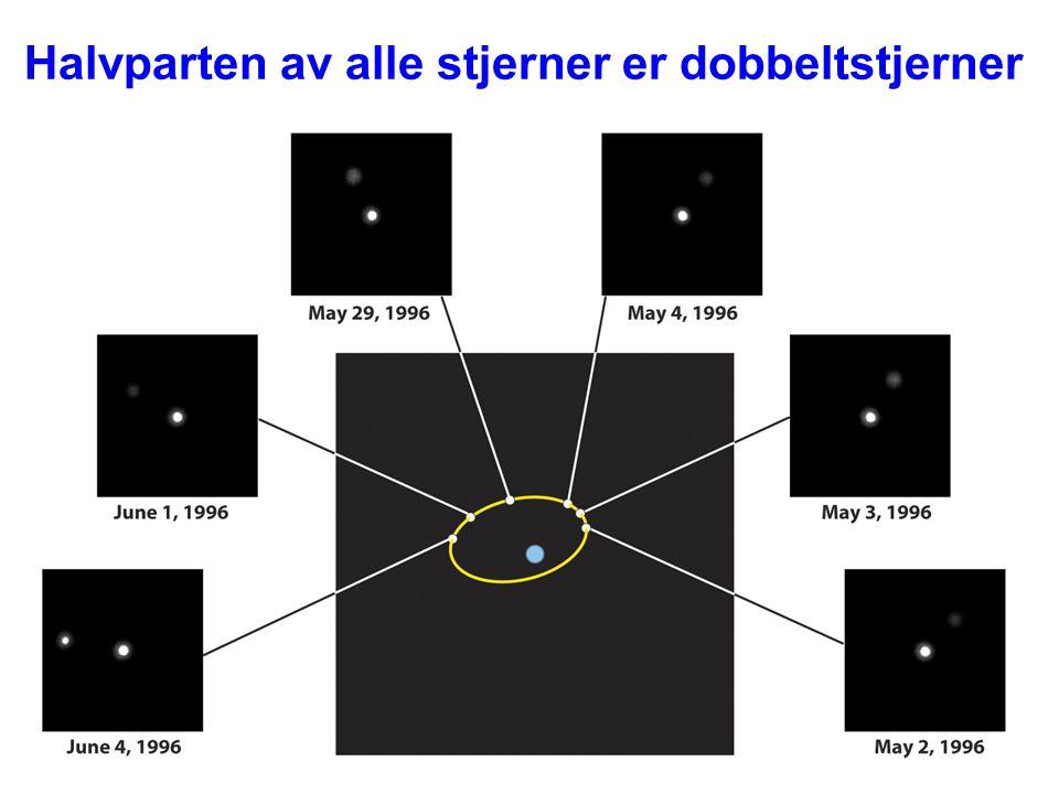 AST1010 - Stjerners natur29 Halvparten av alle stjerner er dobbeltstjerner