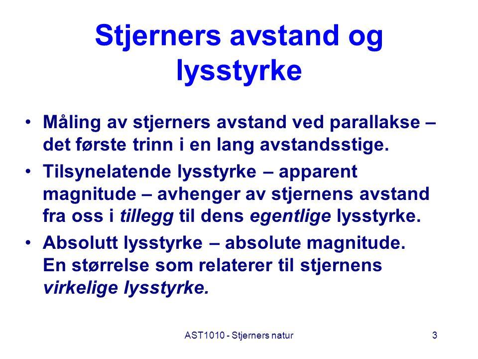 AST1010 - Stjerners natur4 Parallakse
