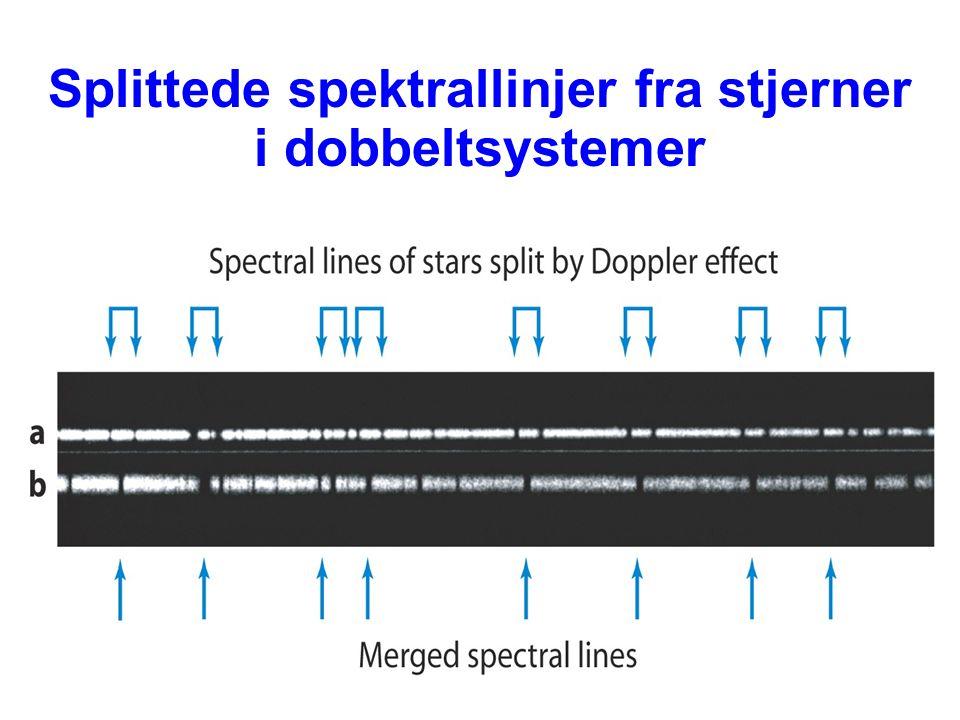 AST1010 - Stjerners natur34 Splittede spektrallinjer fra stjerner i dobbeltsystemer