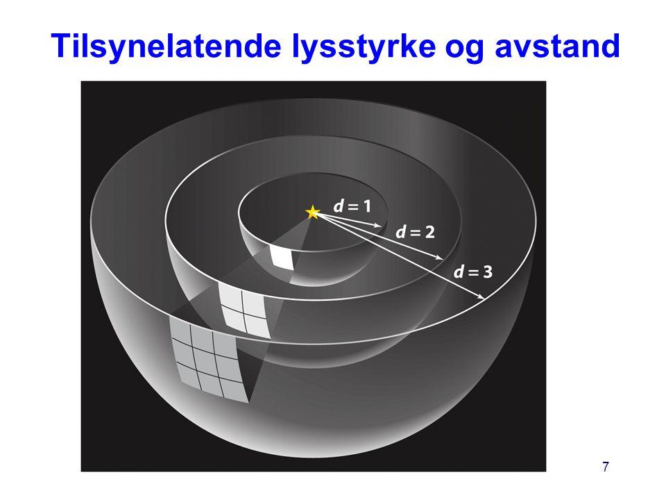 AST1010 - Stjerners natur7 Tilsynelatende lysstyrke og avstand