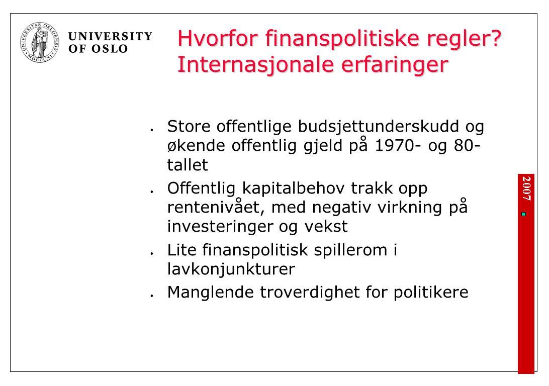 2007 Hvorfor finanspolitiske regler.