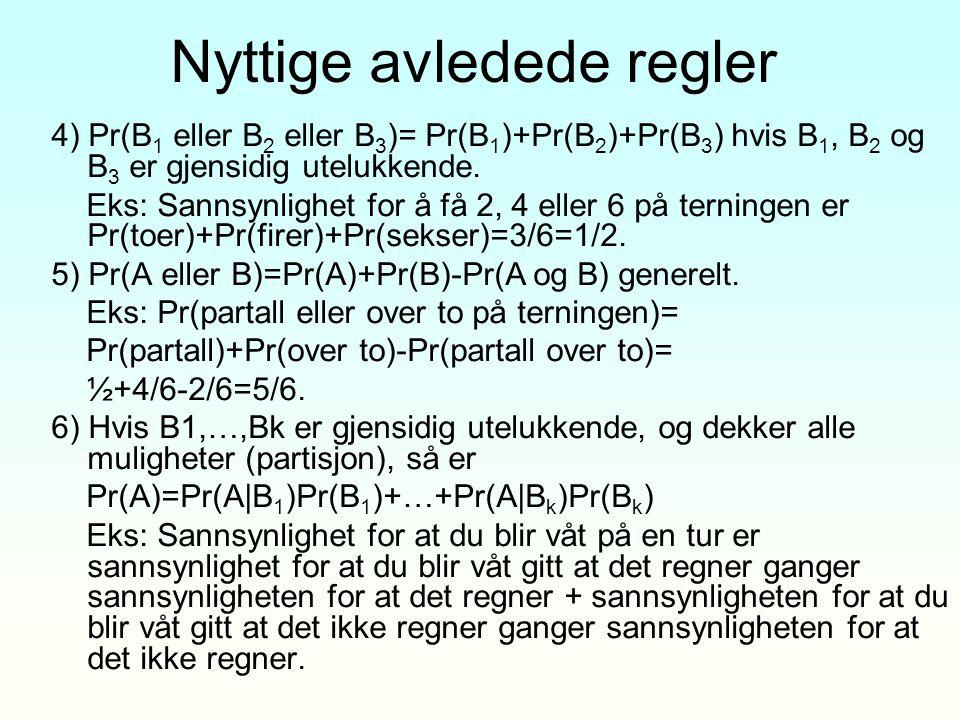 Eks 4 - utregning Førkunnskap: Data: Etter data: som før Ingen analytisk normalisering!