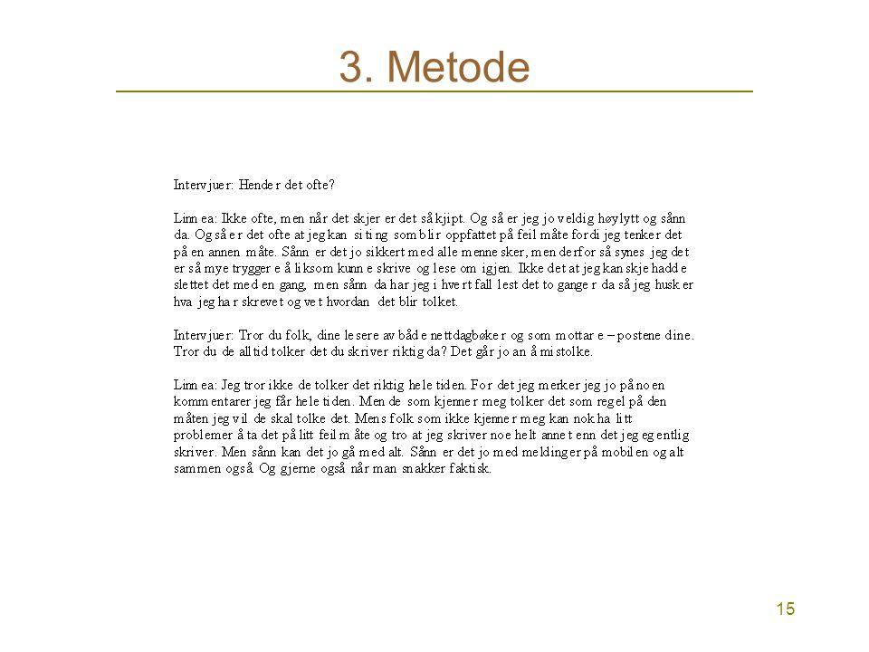 15 3. Metode