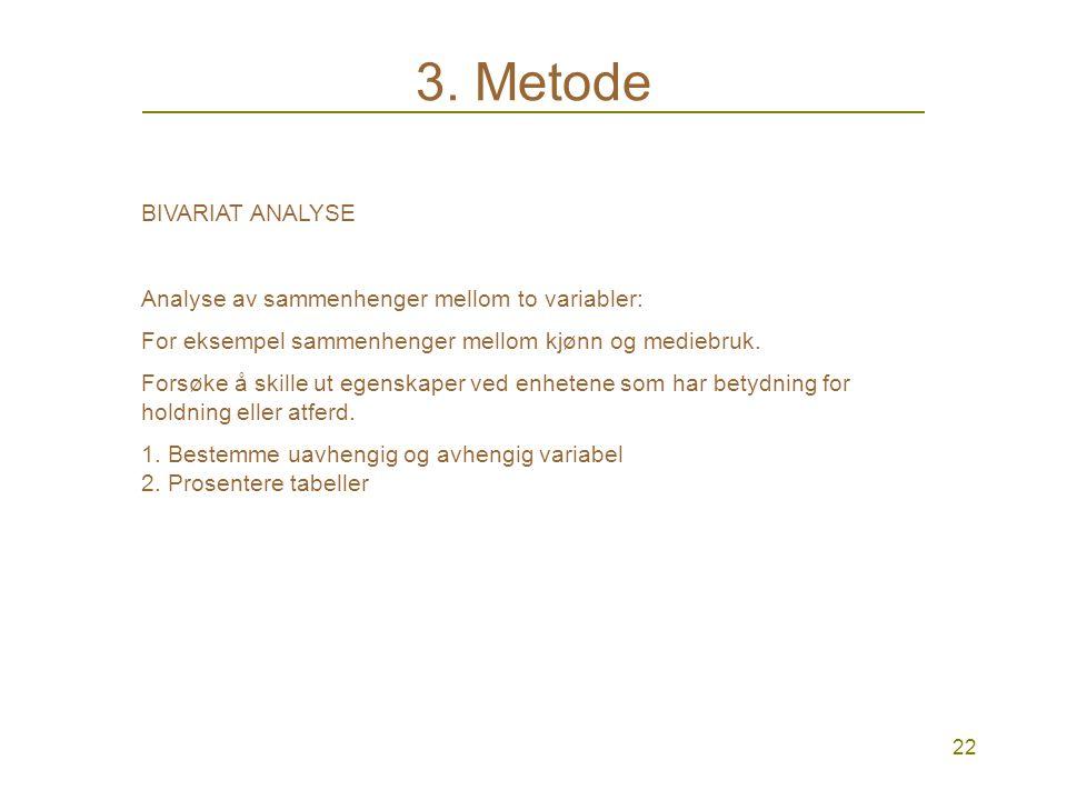 21 3. Metode