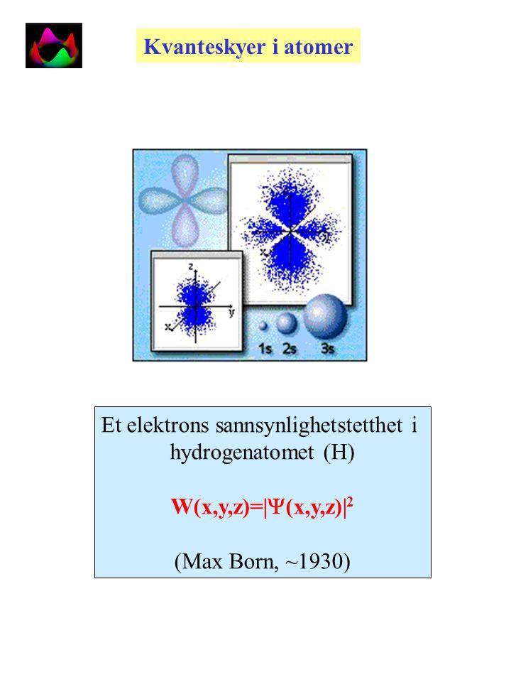 Kvantestrukturen til atomer Bohr Sommerfeld Heisenberg Schrödinger