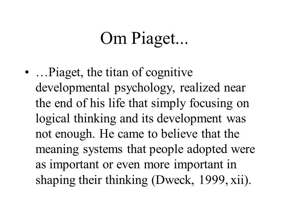 Om Piaget...