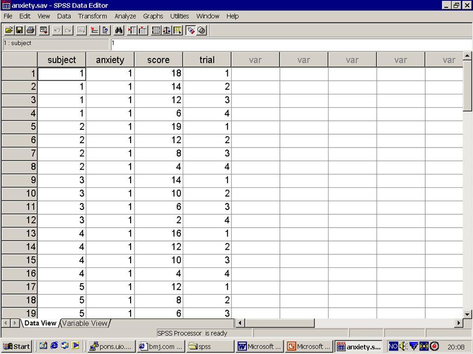 37 Sjekk av antagelser i SPPS Vi lagrer residualer og predikerte verdier i save og plotter etterpå.