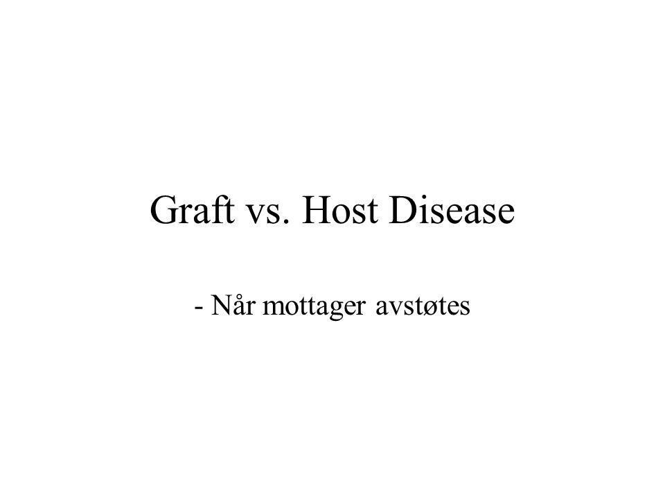 Graft vs. Host Disease - Når mottager avstøtes