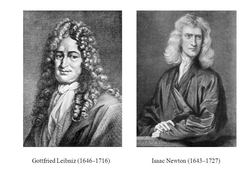 Gottfried Leibniz (1646–1716)Isaac Newton (1643–1727)