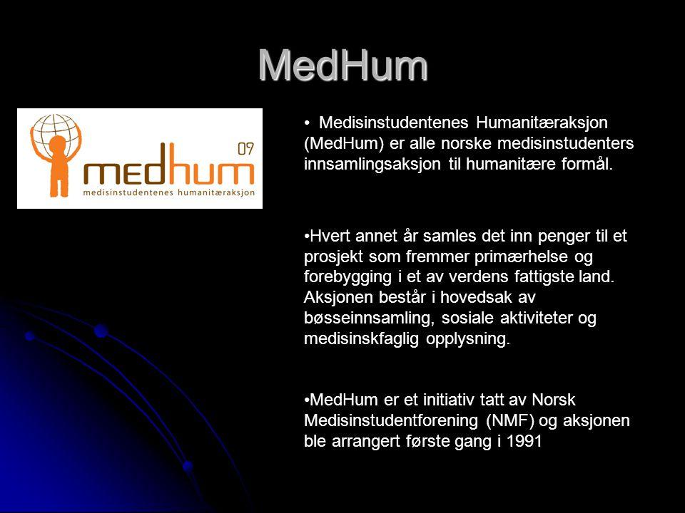 MedHum Medisinstudentenes Humanitæraksjon (MedHum) er alle norske medisinstudenters innsamlingsaksjon til humanitære formål.