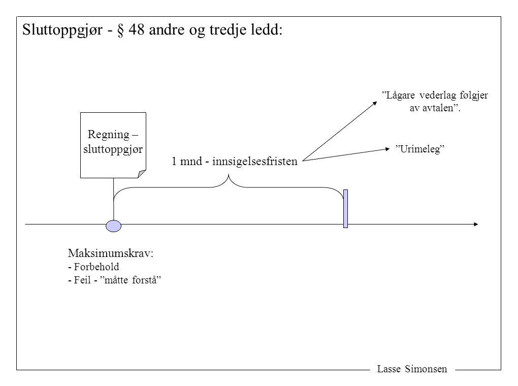 Lasse Simonsen Omtvistet vederlag - § 49: Uomtvistet Omtvistet Vederlaget Bank Deponering Ordinær betaling For lite Buofl § 49,3.3 – Forbrukeren må betale renter.