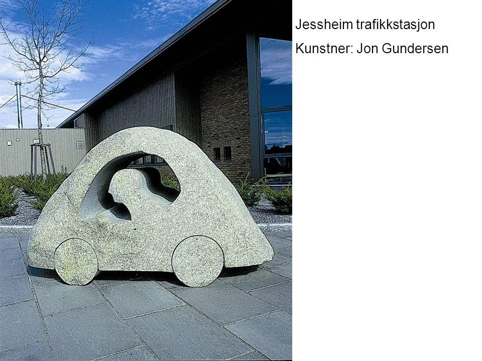 Jessheim trafikkstasjon Kunstner: Jon Gundersen
