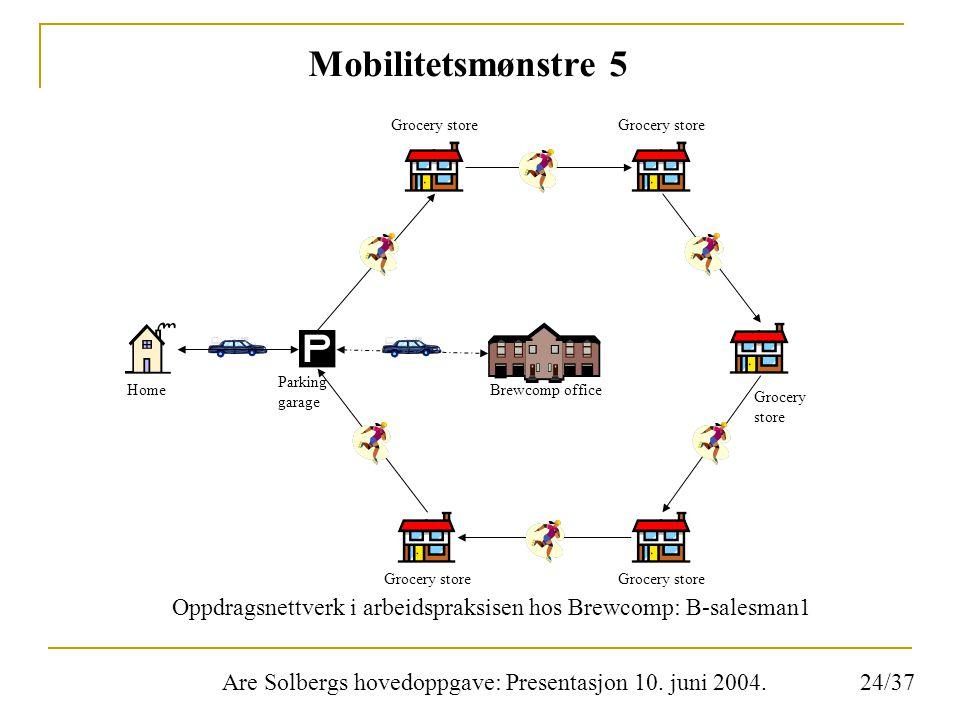 Are Solbergs hovedoppgave: Presentasjon 10. juni 2004. Mobilitetsmønstre 5 Oppdragsnettverk i arbeidspraksisen hos Brewcomp: B-salesman1 Grocery store