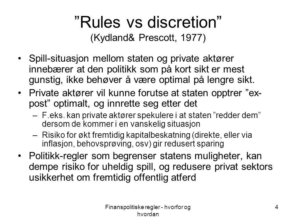 Finanspolitiske regler - hvorfor og hvordan 15