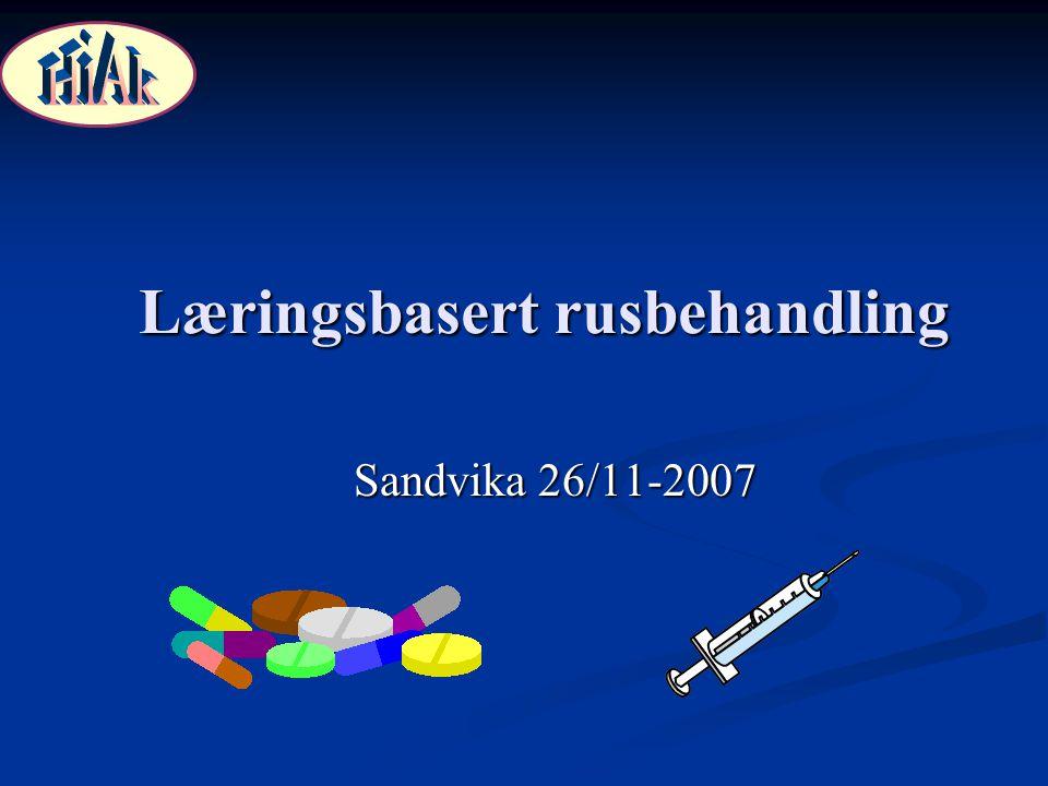 Læringsbasert rusbehandling Sandvika 26/11-2007
