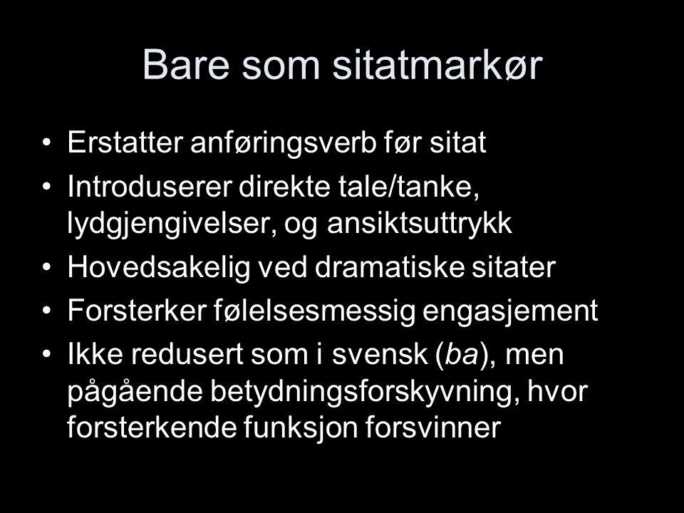 Noen spørsmål til avslutning Er dette motefenomener som vil gå over eller varige endringer av norsk som språk.