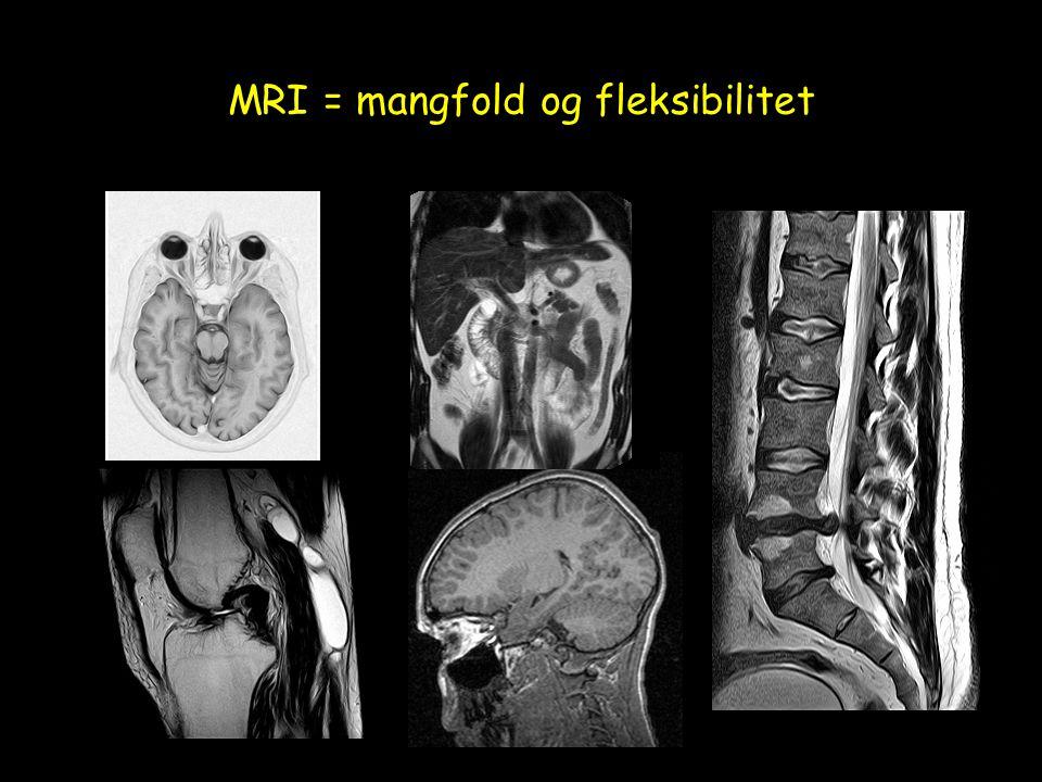 MRI = mangfold og fleksibilitet
