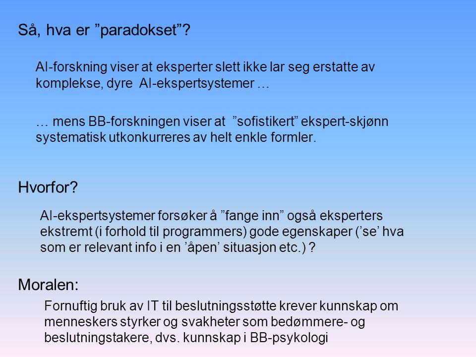 Så, hva er paradokset .