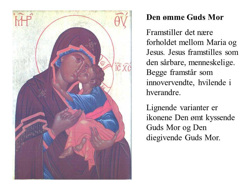 Den ømme Guds Mor Framstiller det nære forholdet mellom Maria og Jesus. Jesus framstilles som den sårbare, menneskelige. Begge framstår som innoverven