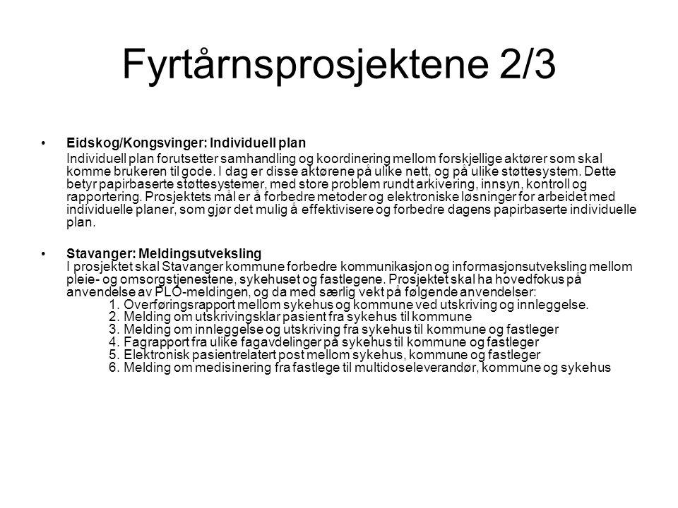 Fyrtårnsprosjektene 2/3 Eidskog/Kongsvinger: Individuell plan Individuell plan forutsetter samhandling og koordinering mellom forskjellige aktører som skal komme brukeren til gode.