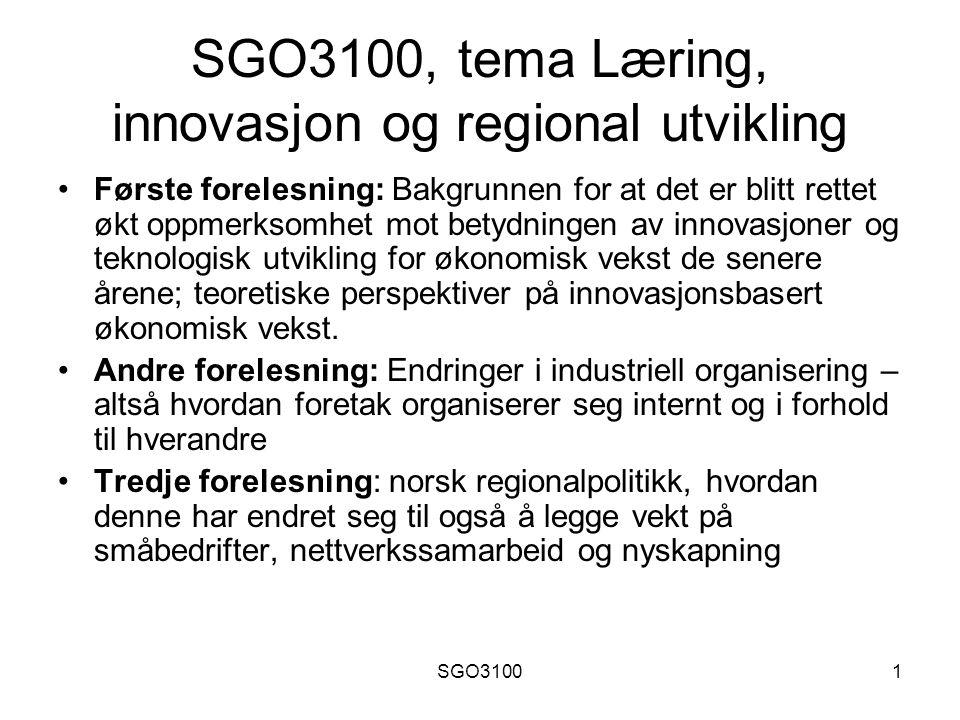 SGO31002 To diametralt forskjellige tilnærminger til økonomien: Markedsorientert tilnærming: Opptatt av optimal ressursallokering, altså hvordan samfunnets ressurser best mulig kan fordeles.