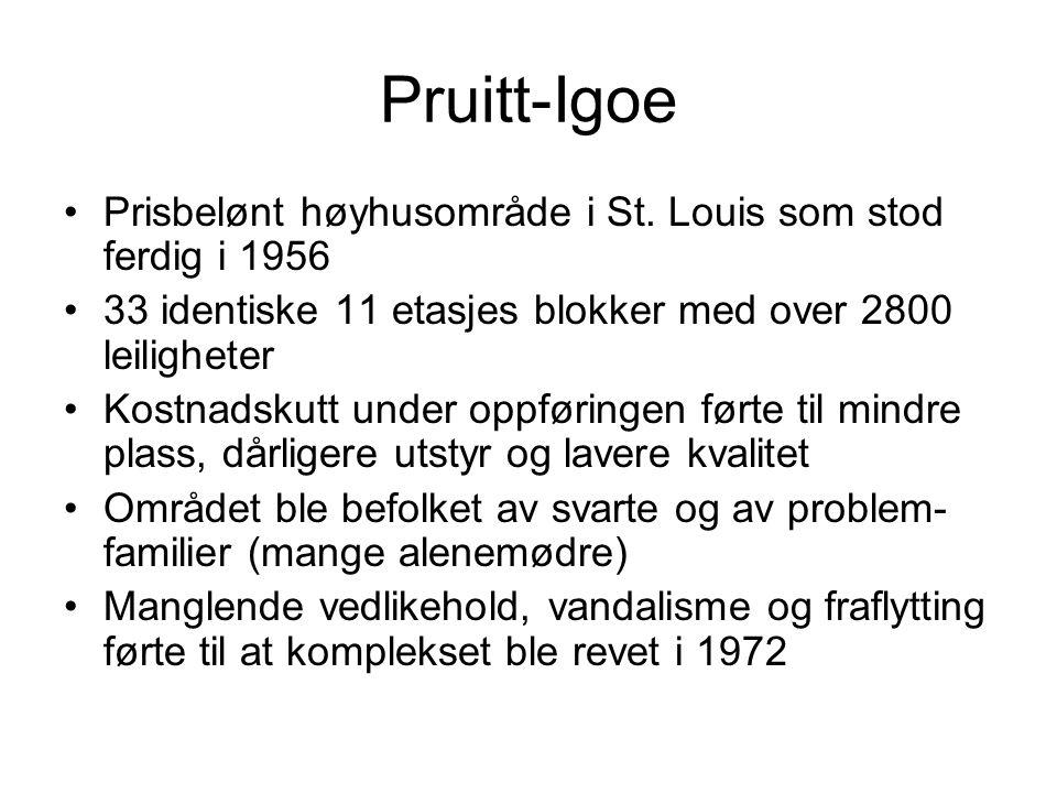 Pruitt-Igoe Prisbelønt høyhusområde i St.