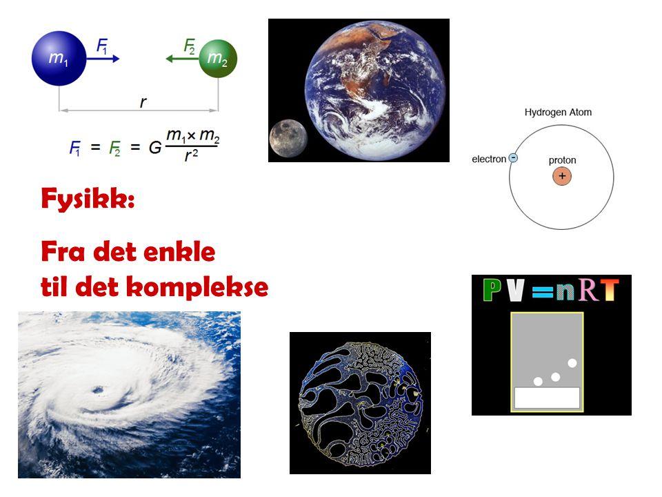 Fysikk: Fra det enkle til det komplekse