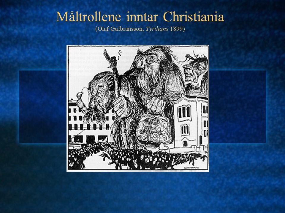 Måltrollene inntar Christiania ( Olaf Gulbransson, Tyrihans 1899)