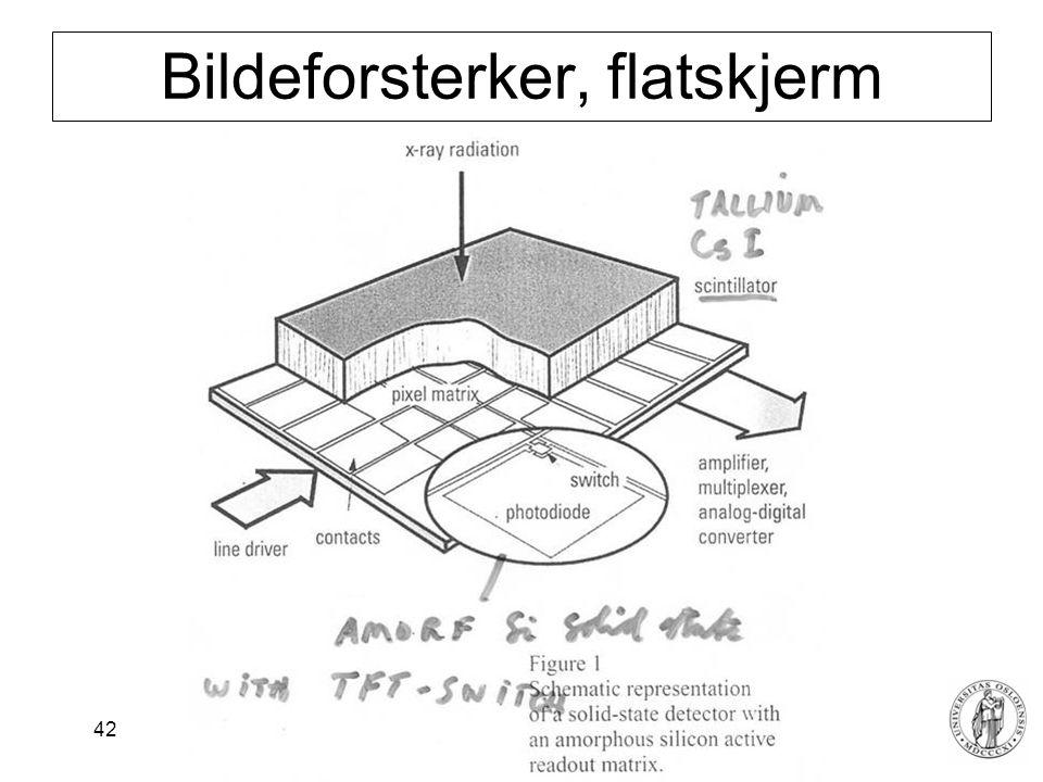 Fysisk institutt - Rikshospitalet 42 Bildeforsterker, flatskjerm