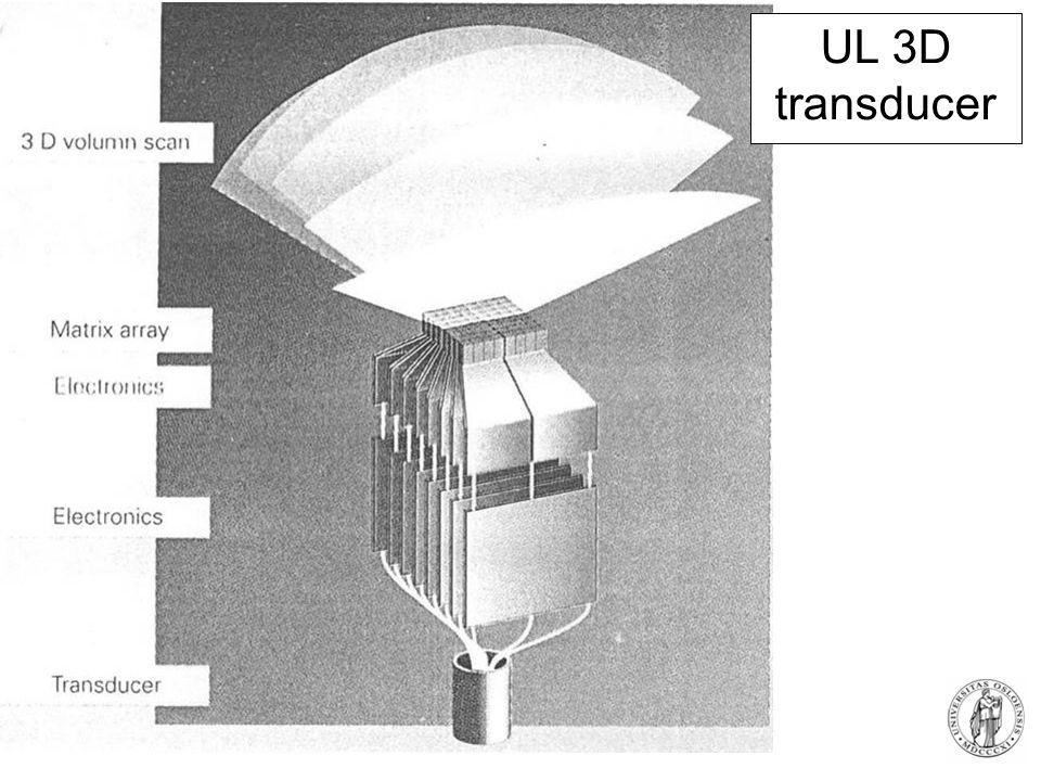 Fysisk institutt - Rikshospitalet 71 UL 3D transducer