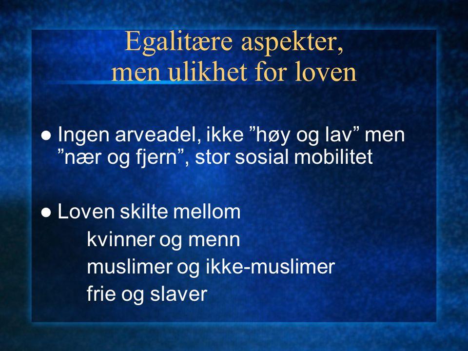 Herskere og undersåtter under kalifatet Den legitime hersker: teori og realitet Herskerens plikt: tilse at Sharia blir praktisert Folkets plikt: lydig