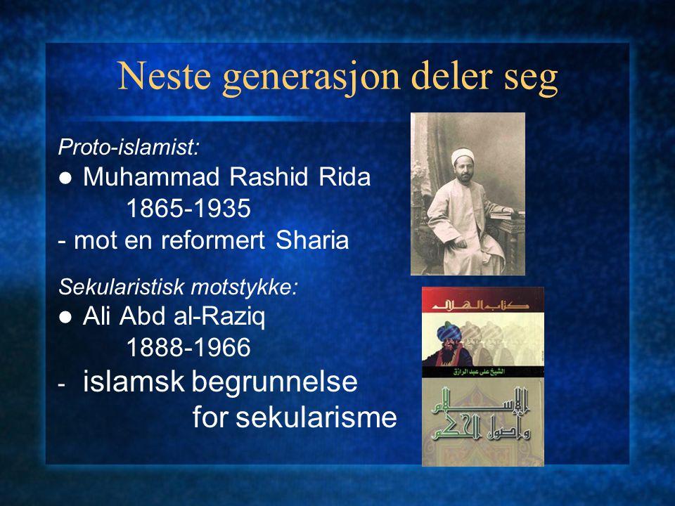 Islamsk oppvåkning: al-nahda Jamal al-Din al-Afghani 1839-1897 Muhammad Abduh 1849-1905 - Muslimer må stå sammen og holde fast ved sin religion i fors