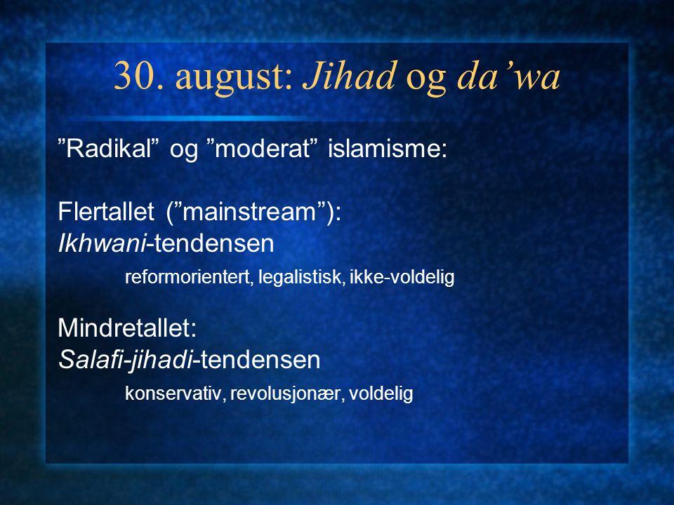 Islamismen som tema: 6 forelesninger