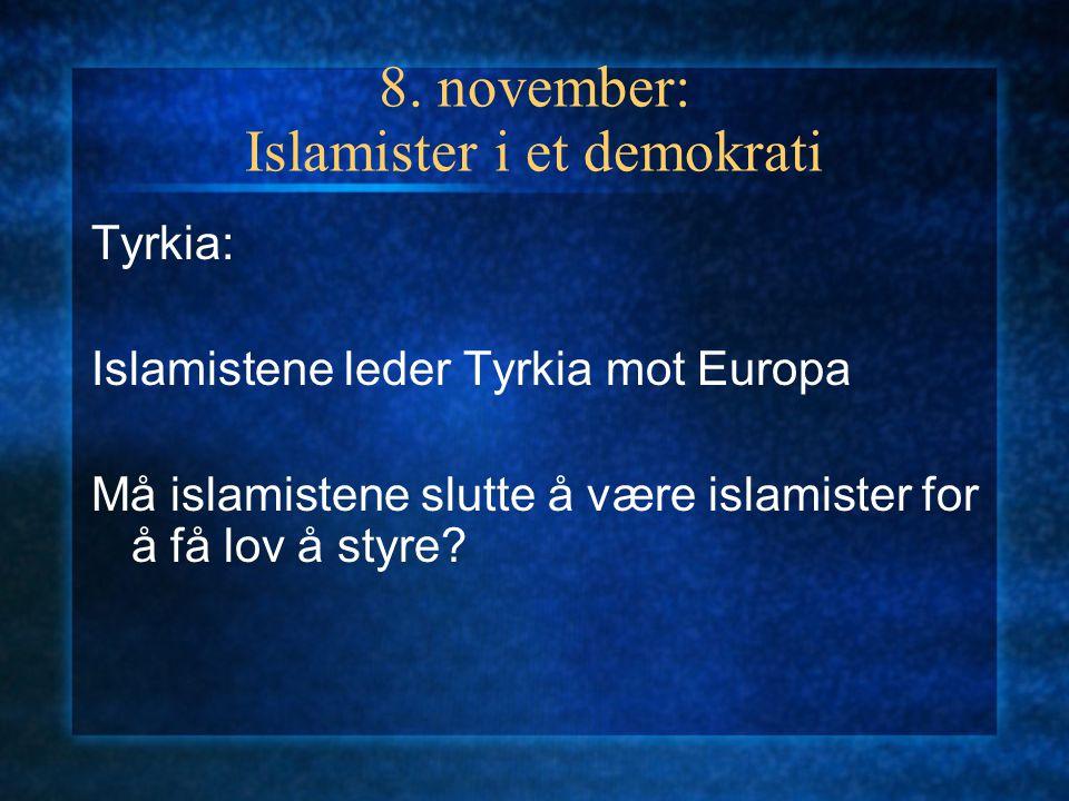 20. september: Islamister ved makta Iran: Hvem har makta når Gud skal styre? Kan noen snakke på Guds vegne?