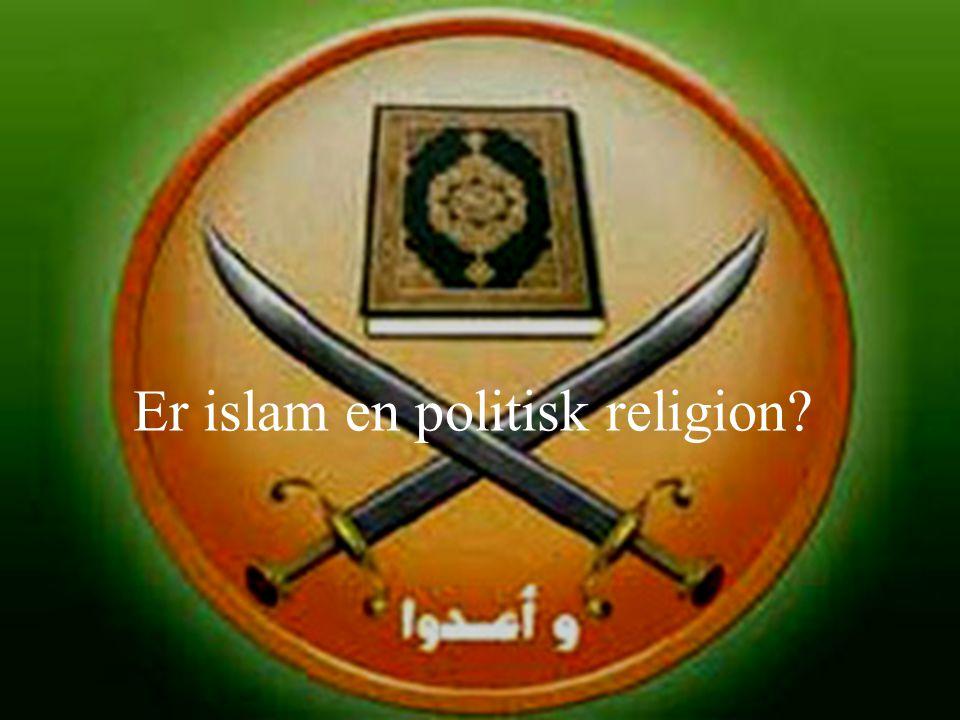 Dagens tema Er islam en politisk religion? Arven fra kalifatet Modernisering og europeisk dominans: tidlige ideologiske svar Islamismen som tema: 6 fo