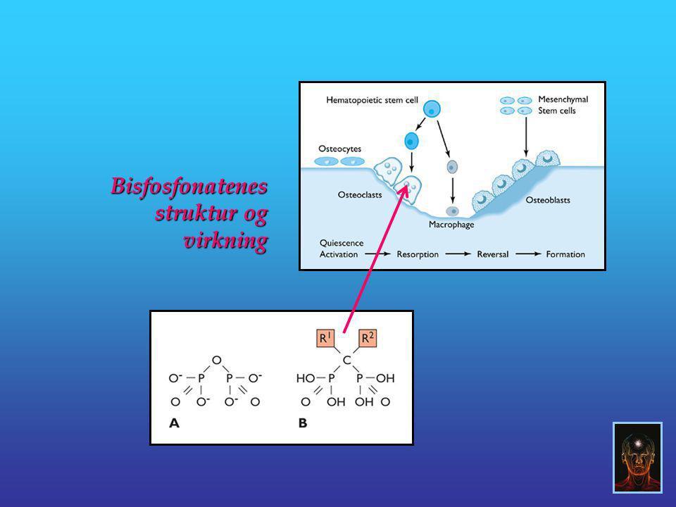 Bisfosfonatenes struktur og virkning