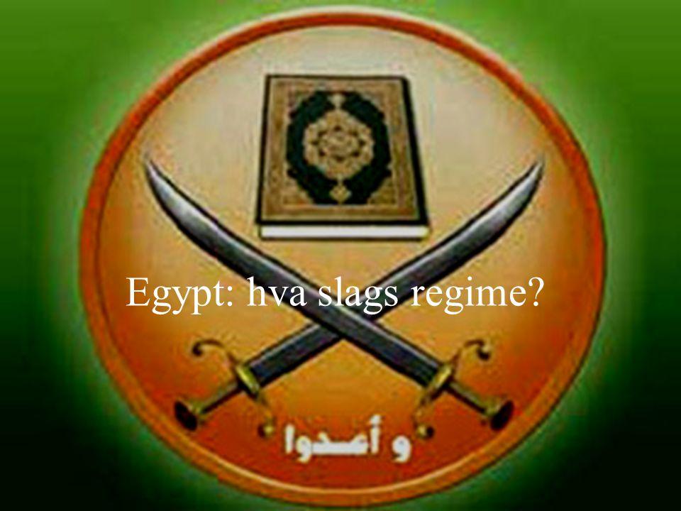 Egypt: hva slags regime