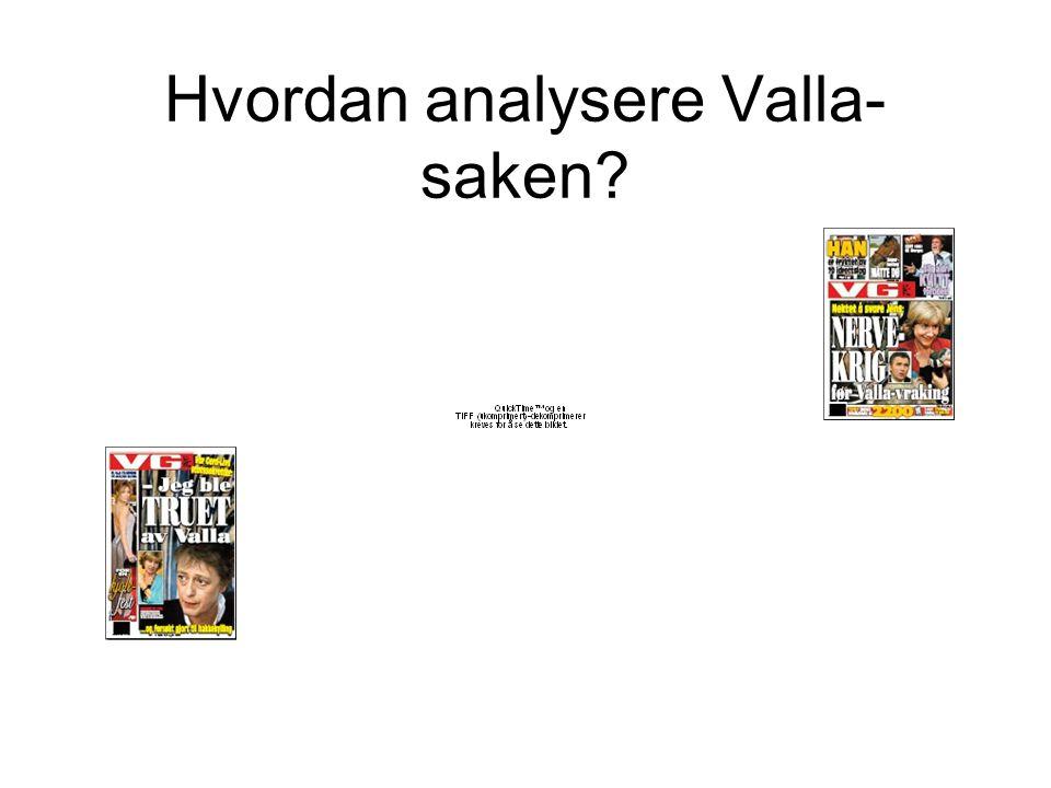 Hvordan analysere Valla- saken?