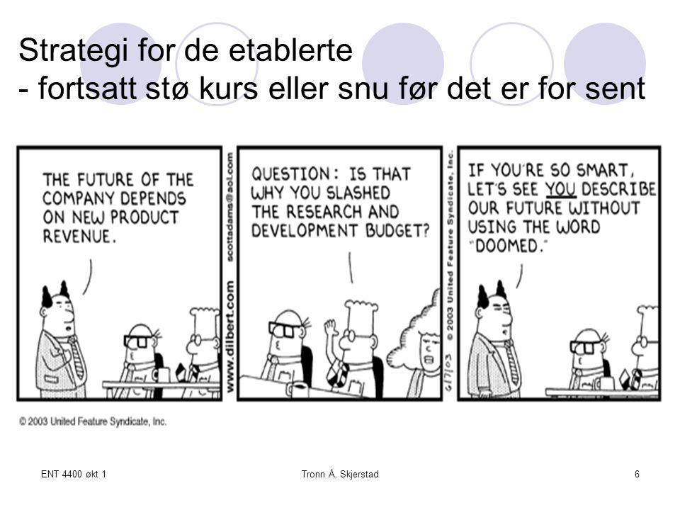 ENT 4400 økt 1Tronn Å. Skjerstad7 Strategi for nyetablerte – nye kunder, nye behov og nye løsninger