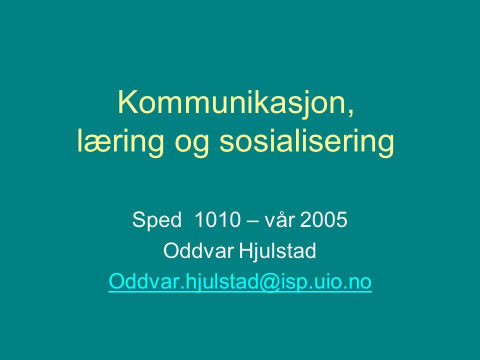 Leseforslag fra pensum Hundeide, K.