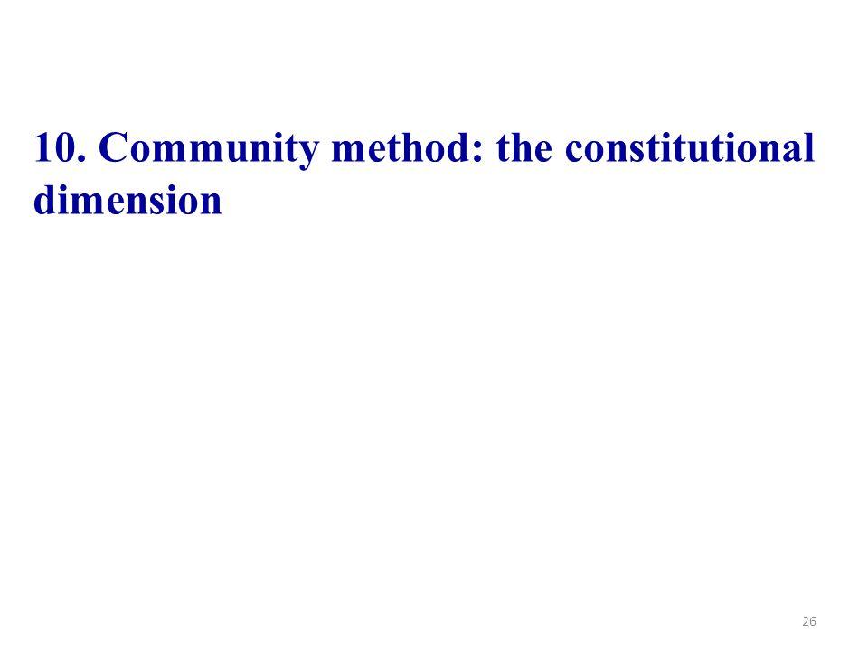 26 10. Community method: the constitutional dimension