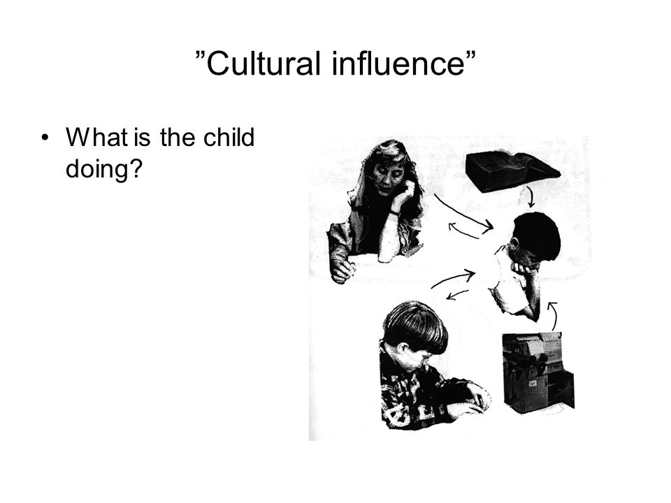 """""""Cultural influence"""" What is the child doing?"""