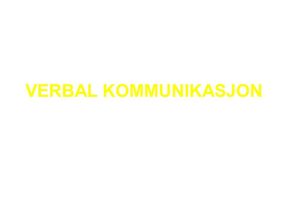 VERBAL KOMMUNIKASJON