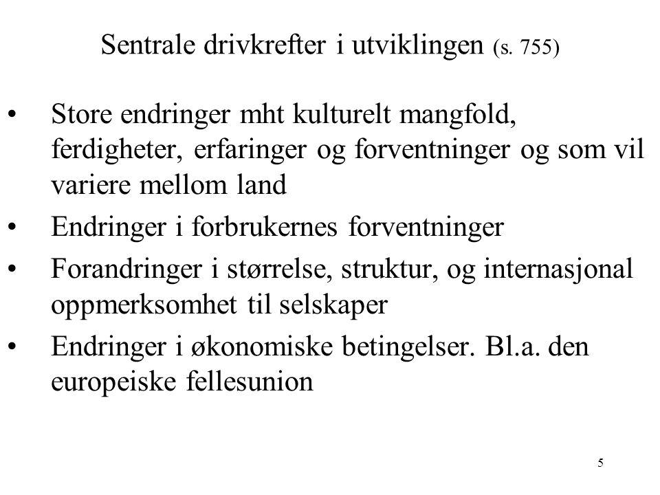 5 Sentrale drivkrefter i utviklingen (s.