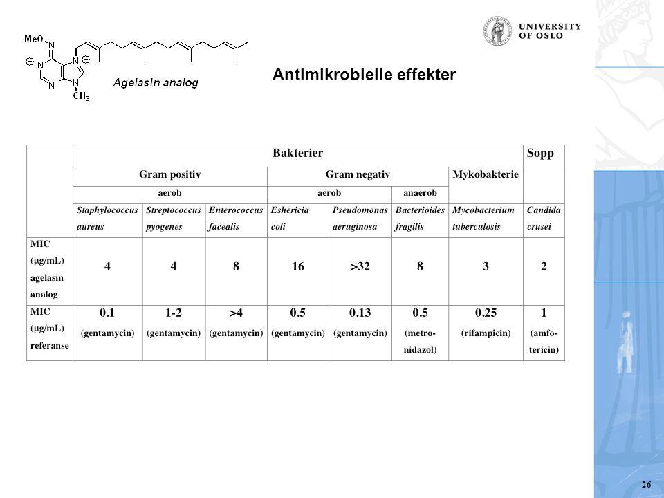 Antimikrobielle effekter 26