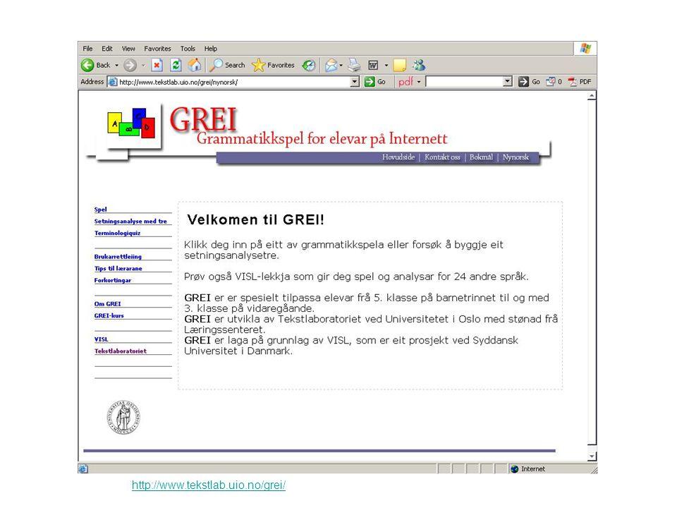 http://www.tekstlab.uio.no/grei/