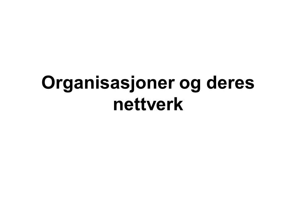 Organisasjoner og deres nettverk