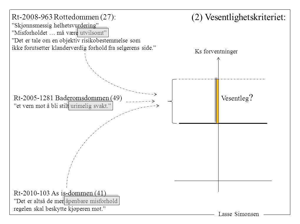 """Lasse Simonsen Rt-2008-963 Rottedommen (27): """"Skjønnsmessig helhetsvurdering"""" """"Misforholdet … må være utvilsomt"""" """"Det er tale om en objektiv risikobes"""