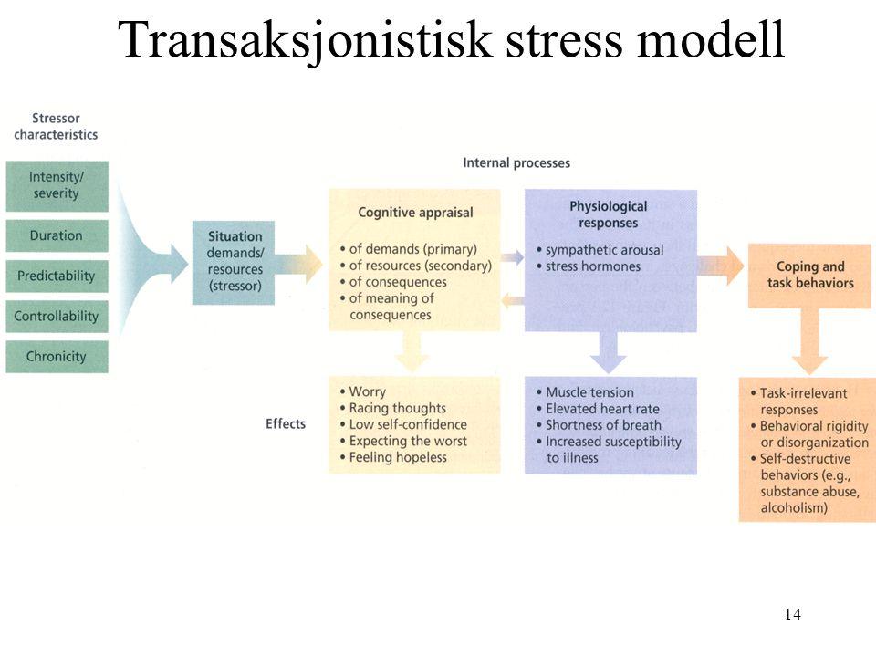 14 Transaksjonistisk stress modell