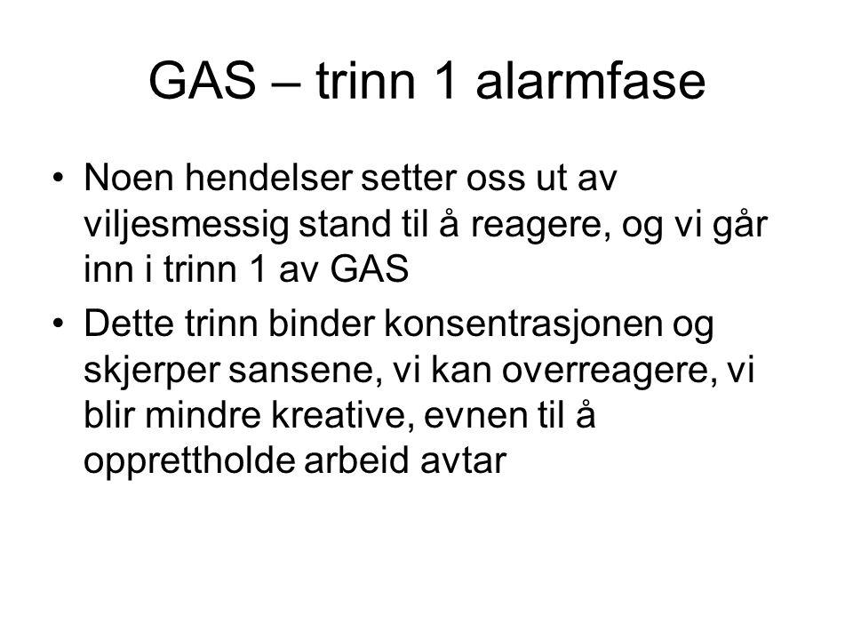 GAS trinn 1, forts.